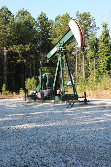 one of many gas wells on Forever Wild land