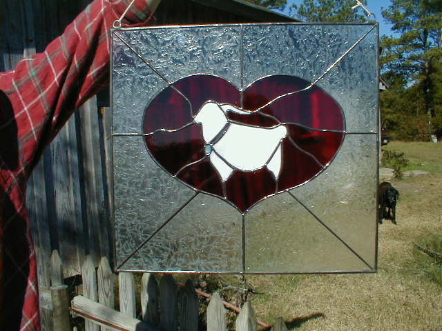 stained glass Bleating Heart