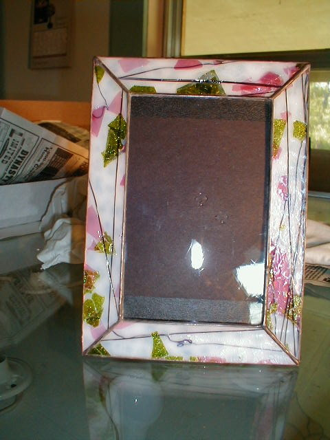 stained glass picture frame